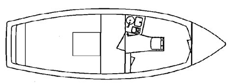 Boat Hull Outline by Pompano 21 Atlas Boat Works