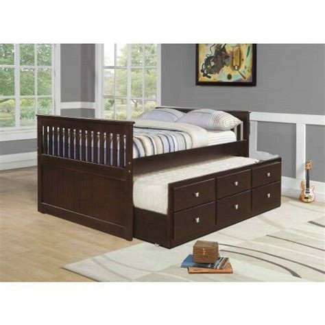 trundle bed with drawers full size captain s bed with twin trundle and drawers 17578 | s l1000