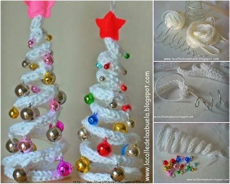 how to diy crochet christmas tree with ornaments