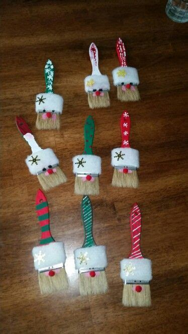 santa paint brush craft girl guides christmas crafts