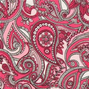 Paisley Muster Stoff : rosa paisley muster und blumen stoff von robert kaufman ~ Watch28wear.com Haus und Dekorationen