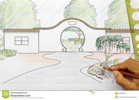 Garten Chinesisch Gestalten by Garden Design Plan Stock Image Image Of Tree