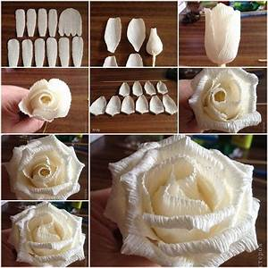 How To Make Easy Corrugated Paper Rose step by step DIY