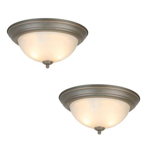 industrial ceiling light covers commercial electric 13 in 2 light oil rubbed bronze