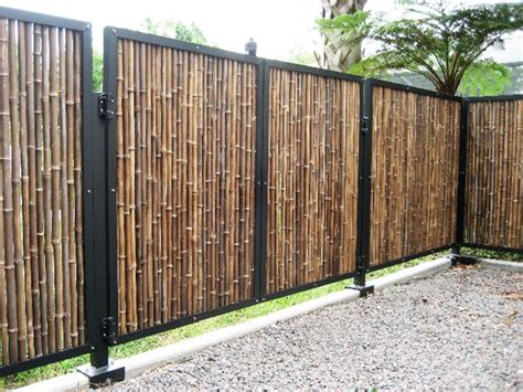 modern bamboo fence design model  ideas