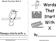 things that start with x for preschool words that start with x book a printable book 246