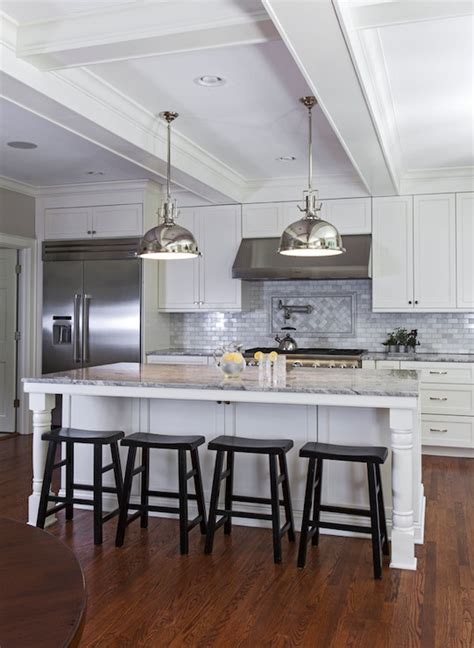turned legs  island transitional kitchen urban