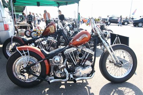 Hardtail Shovelhead Custom W/ Orange Metalfalke Paint