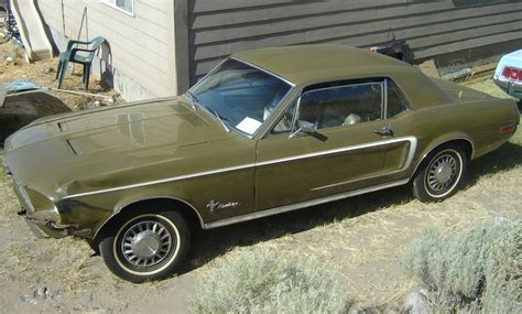 olive green 1968 ford mustang rainbow of colors hardtop mustangattitude com photo detail