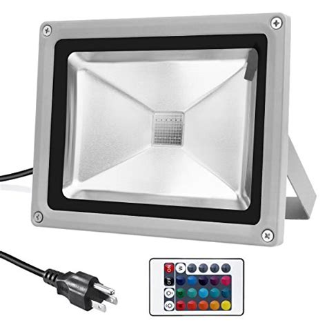 warmoon outdoor led flood light 20w rgb color changing