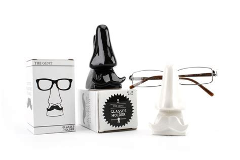 Ceramic Nose With Moustache Glasses Holder