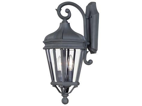 minka lavery harrison black two light outdoor wall light