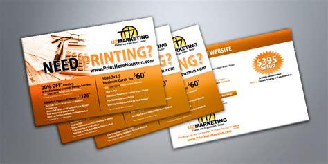 houston tx postcard printing  shipping