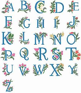 Brother machine embroidery designs for Embroidered alphabet letters