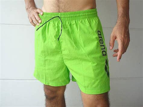 Nwt Arena Men's Swim Trunks Swimsuit Shorts Lime Green