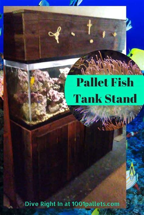 pallet fish tank stand  decorative knot hood  pallets