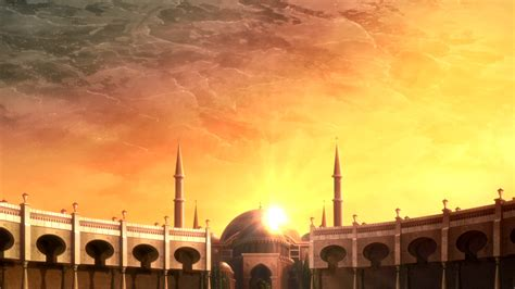 Islamic Anime Wallpaper - mosque islamic architecture sword sun