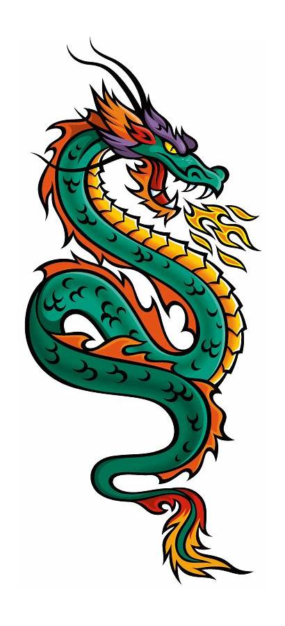Dragon Chinese Vector Cliparts Clipart Dragons Japanese