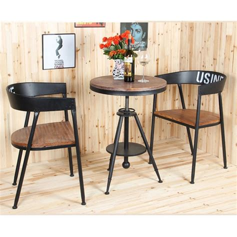 creative fashion tea table wood outdoor casual cafe