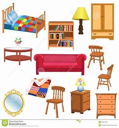 Furniture Clipart Living Bedroom Vector Background Clip
