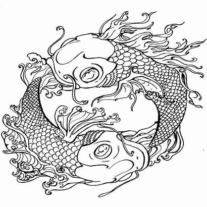 Dragon Coloring Tattoo Pages Japanese Printable Japan