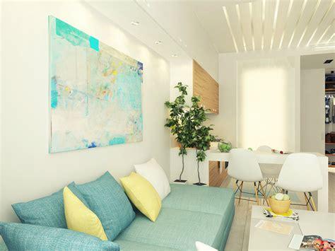blue yellow white lounge interior design ideas