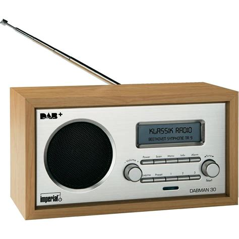 DAB+ Table top radio Imperial DABMAN 30 DAB+, FM Wood from ...