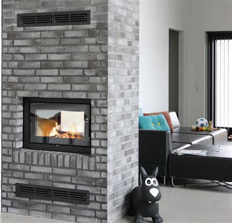 sided fireplace insert fireplace design ideas