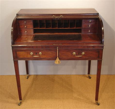 Georgian Desk by Georgian Tambour Desk Bureau And Secretaire