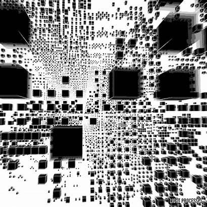 Cube Matrix Loop Processing Abstract Digital Generative