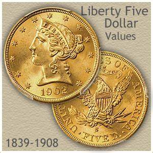 Coin Chart Liberty Five Dollar Gold Coin Value Discover Their Worth