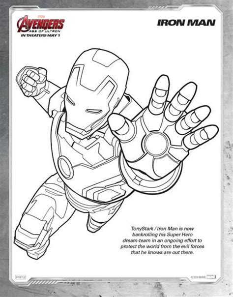marvel s avengers age of ultron printable coloring sheets