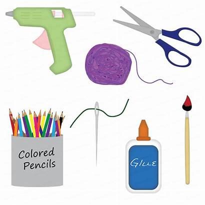 Craft Clip Crafts Clipart Supplies Arts Cliparts