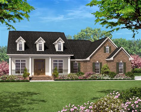 sq ft country ranch house plan  bed  bath garage