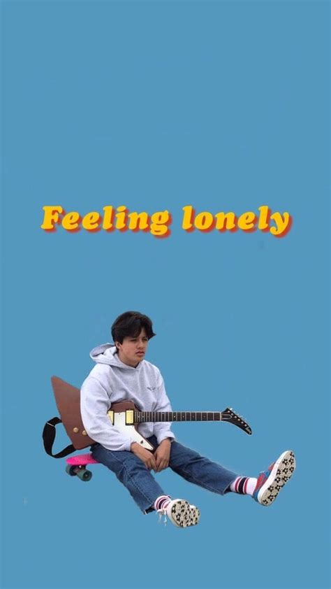 boy pablo collage poster feeling lonely