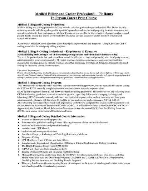 Exle Of Billing And Coding by Billing And Coding Resume Getessay Biz