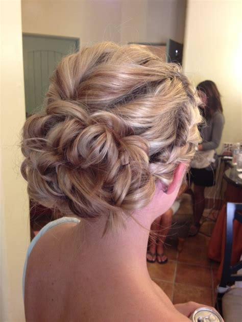 braided romantic updo for a bridesmaid i did best yet