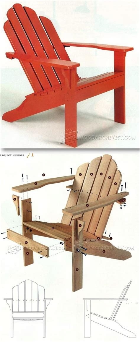 Big And Adirondack Chair Plans by 25 Best Ideas About Outdoor Furniture Plans On