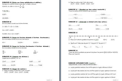 devoir maison de math 6eme sixi 232 me andersen nombres entiers et d 233 cimaux encadrement geomm 233 trie et nombre