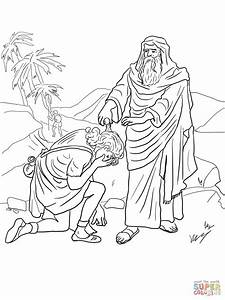 Samuel Anoints David As King Coloring Page Free Printable Coloring Pages