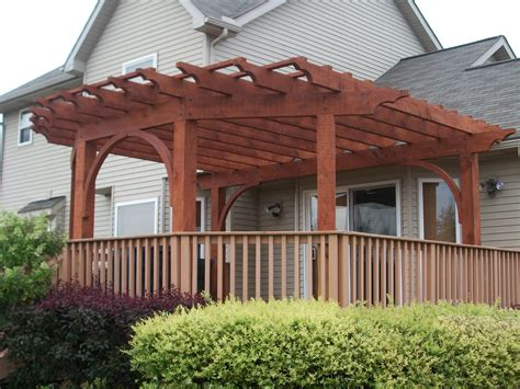 thin wire resin pergola ideas for deck 2448