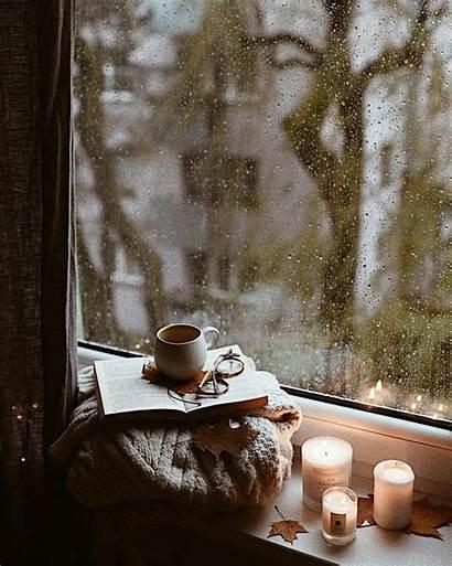 Aesthetic Cozy Rain Autumn Wallpapers Coffee Night