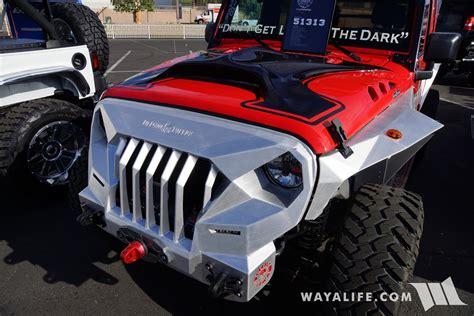 sema topfire red jeep jk wrangler unlimited