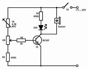 heat sensor circuit With temperature sensor led meter circuit diagram