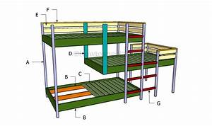 Triple bunk bed plans HowToSpecialist - How to Build