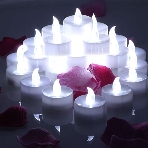 automatic tea light candles online store omgai 24 pcs led tea lights candles battery