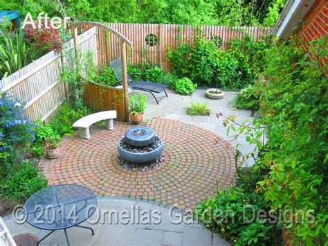 small town garden design in tonbridge ornellas garden