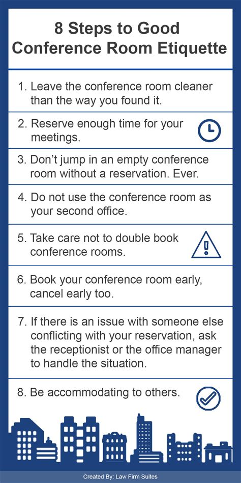 steps  good conference room etiquette law firm suites