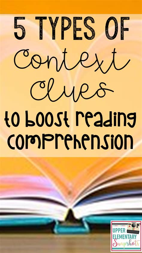 5 Types Of Context Clues To Boost Reading Comprehension  Upper Elementary Snapshots