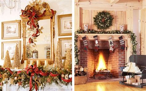 Decorate Your Mantel Or Chimney For Christmas Mediterranean Bathroom Design Paint Color For Small With Walk In Closet Photos Of White Bathrooms 48 Vanity Stool Shelving Black And Vintage